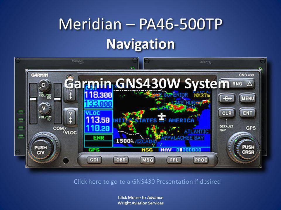 Meridian – PA46-500TP Navigation