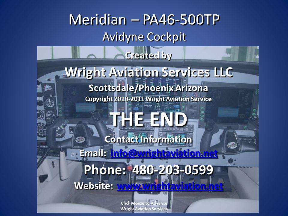 Meridian – PA46-500TP Avidyne Cockpit