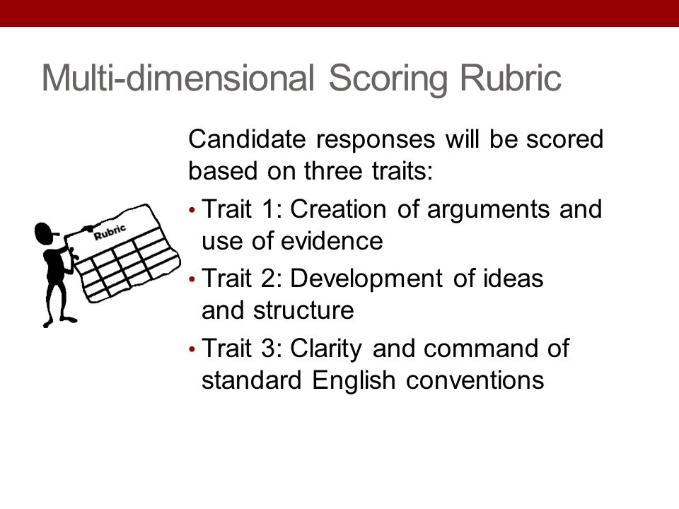 Multi-dimensional Scoring Rubric