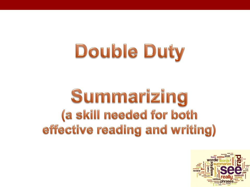 (a skill needed for both effective reading and writing)