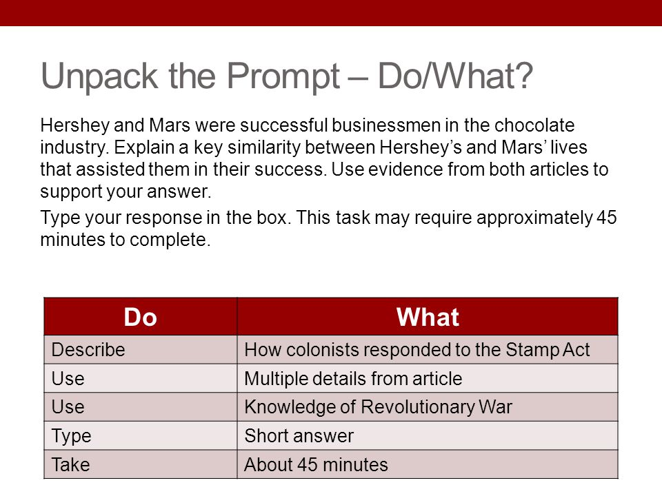 Unpack the Prompt – Do/What