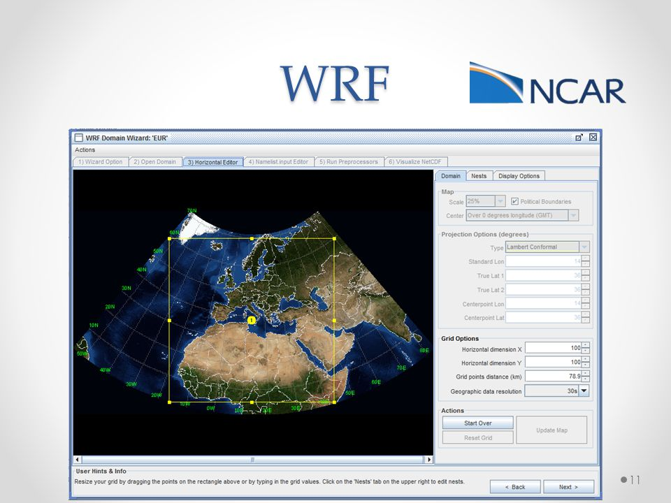 WRF Project started in 1998 Weather Research and Forecasting