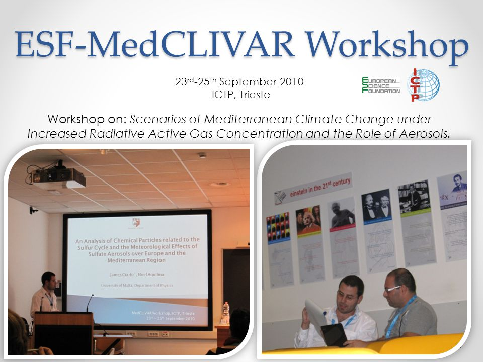 ESF-MedCLIVAR Workshop