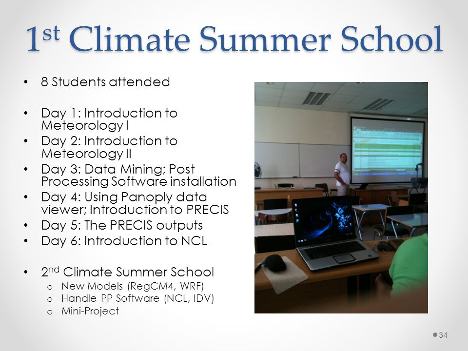1st Climate Summer School