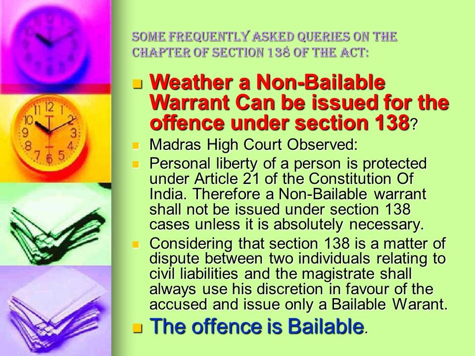 The offence is Bailable.