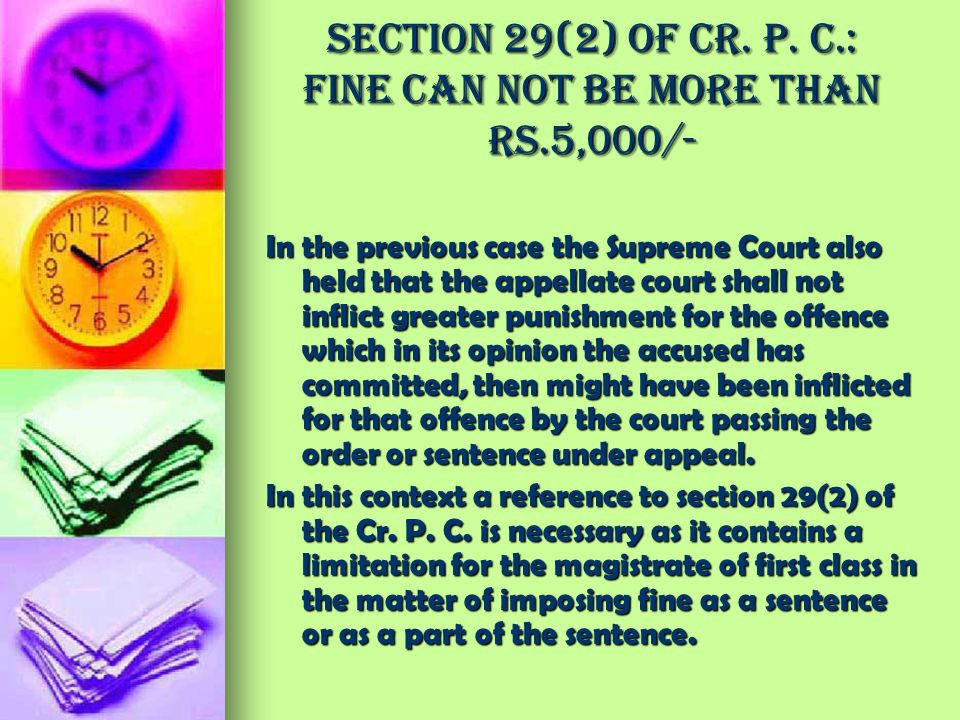 Section 29(2) of Cr. P. C.: Fine can not be more than Rs.5,000/-