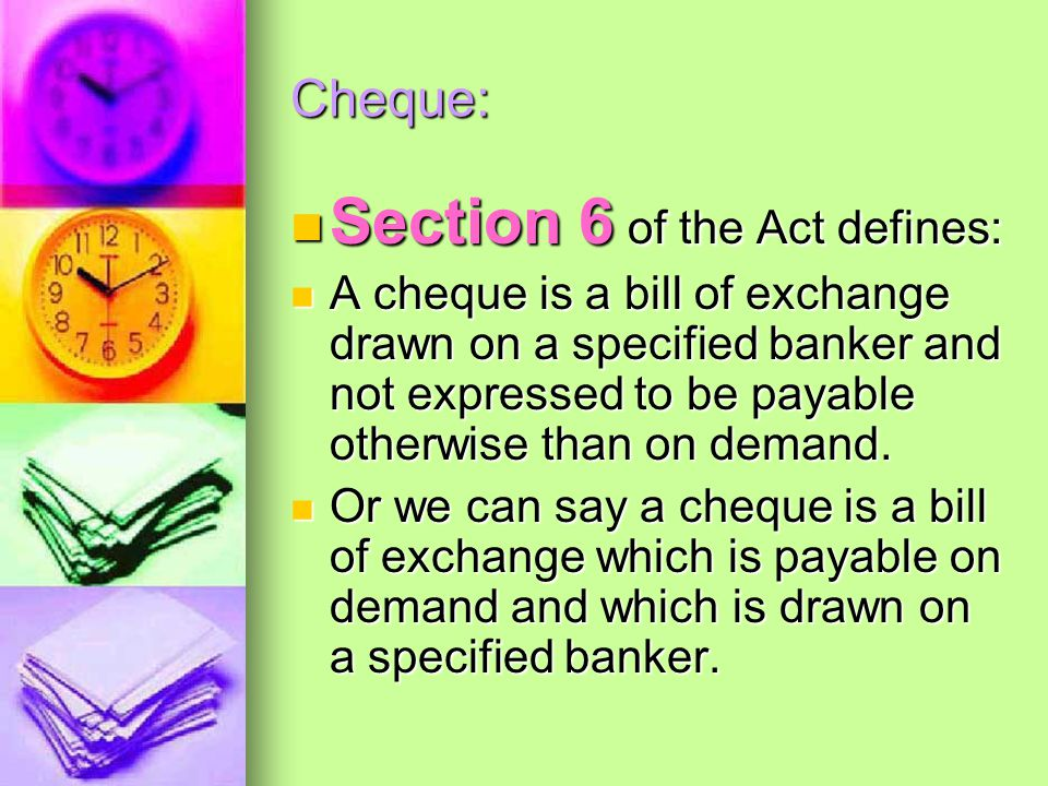 Section 6 of the Act defines: