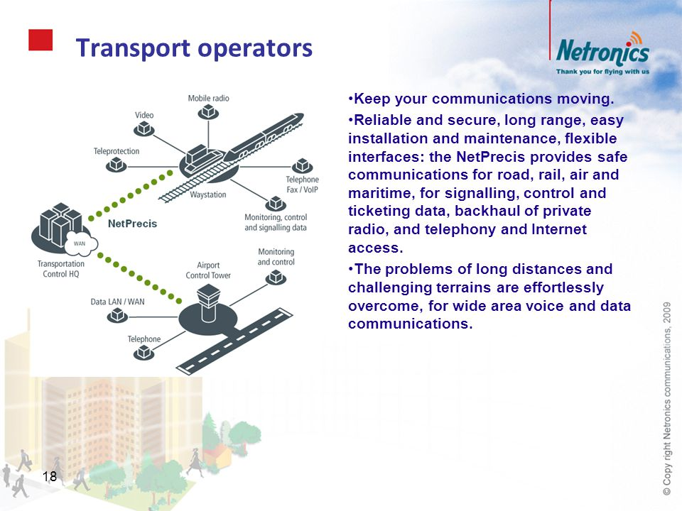 Transport operators Keep your communications moving.