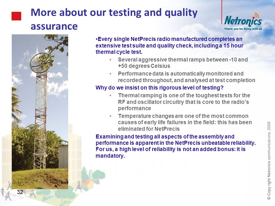 More about our testing and quality assurance