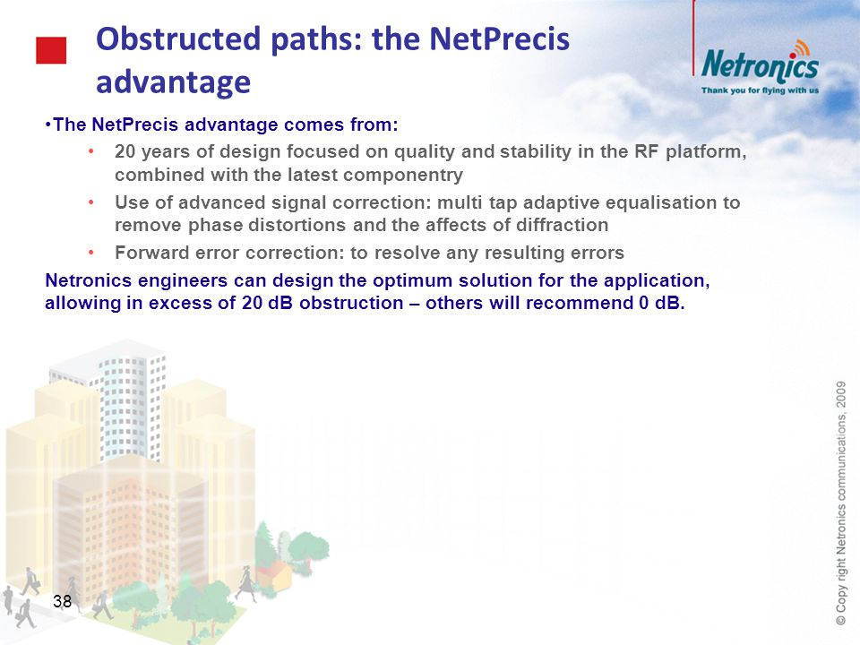Obstructed paths: the NetPrecis advantage