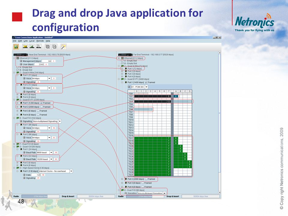 Drag and drop Java application for configuration