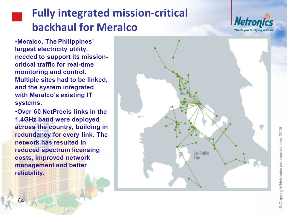 Fully integrated mission-critical backhaul for Meralco