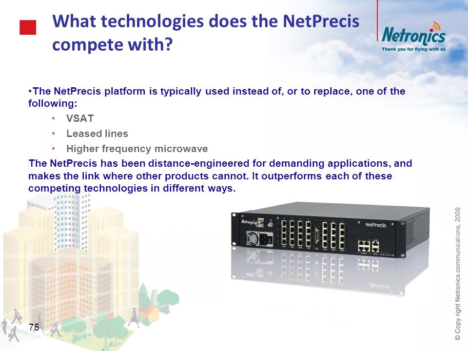What technologies does the NetPrecis compete with