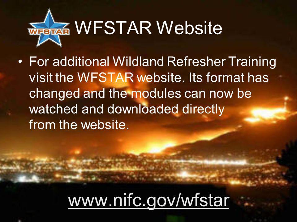 WFSTAR Website www.nifc.gov/wfstar