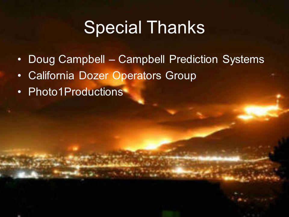 Special Thanks Doug Campbell – Campbell Prediction Systems