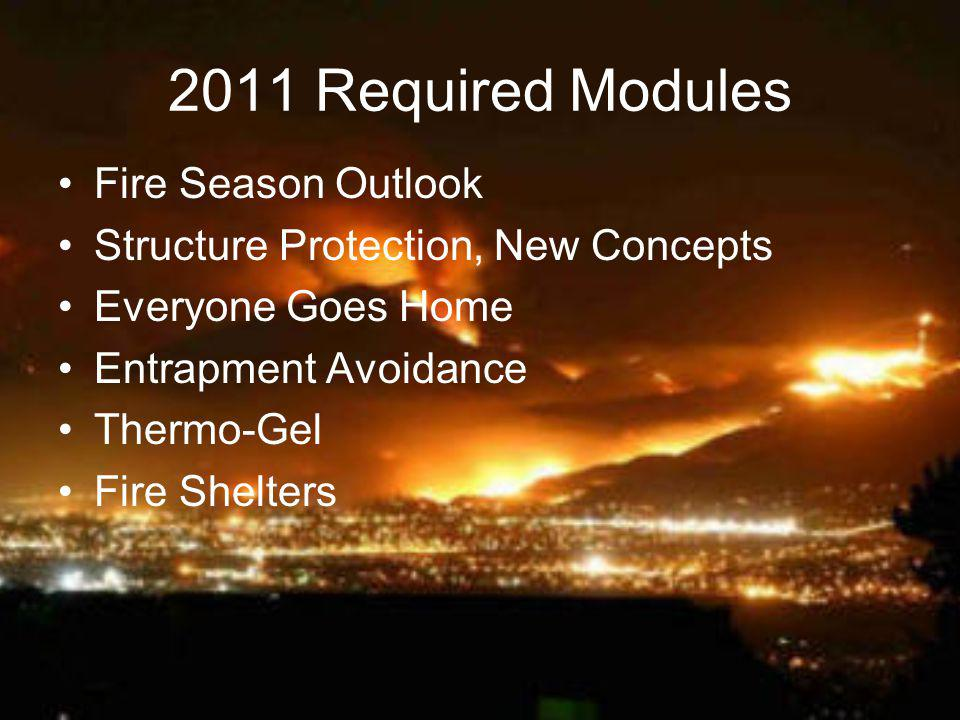 2011 Required Modules Fire Season Outlook