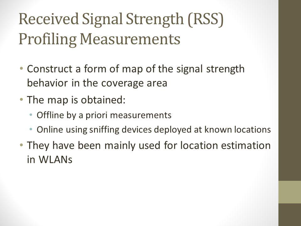 Received Signal Strength (RSS) Profiling Measurements
