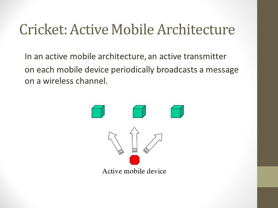 Cricket: Active Mobile Architecture
