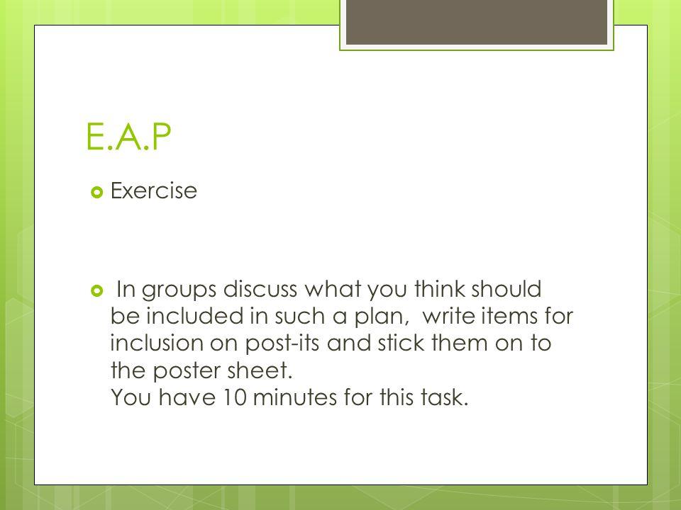 E.A.P Exercise.