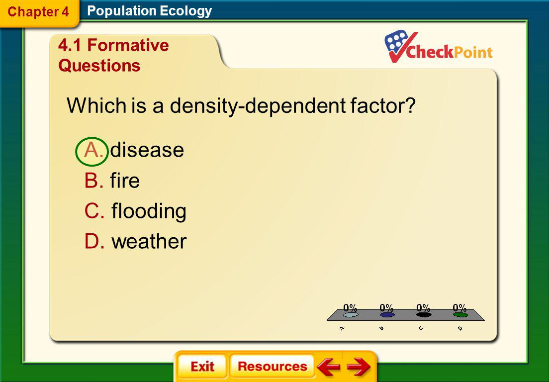 Which is a density-dependent factor