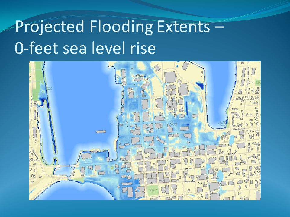 Projected Flooding Extents – 0-feet sea level rise