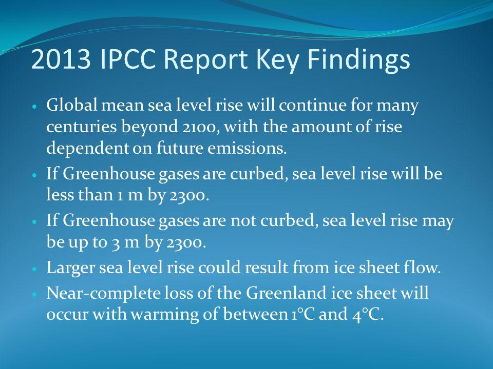 2013 IPCC Report Key Findings