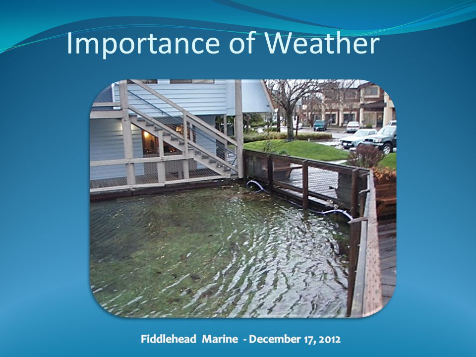 Importance of Weather Fiddlehead Marine - December 17, 2012