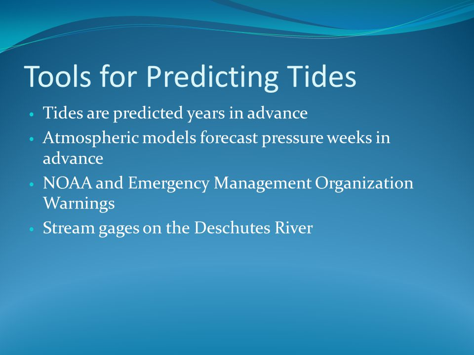 Tools for Predicting Tides