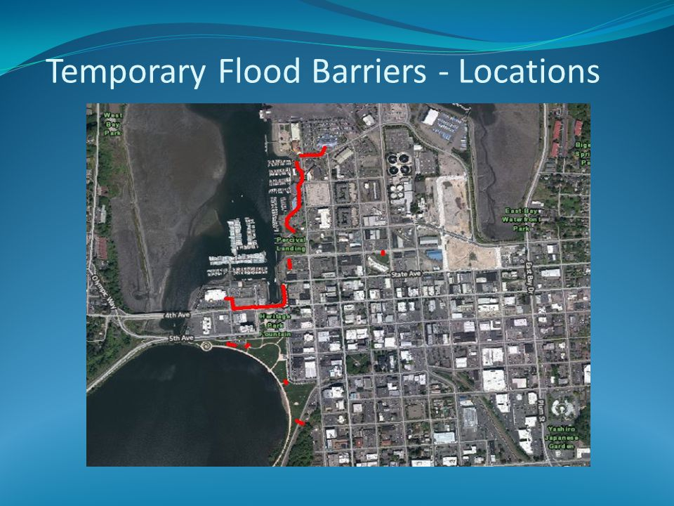 Temporary Flood Barriers - Locations