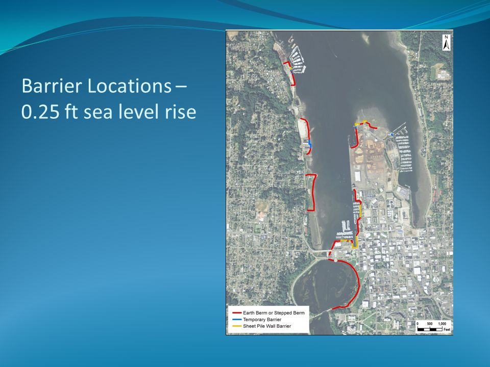 Barrier Locations – 0.25 ft sea level rise