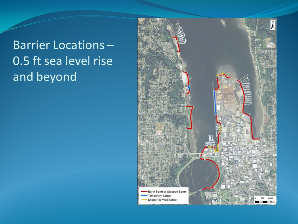 Barrier Locations – 0.5 ft sea level rise and beyond