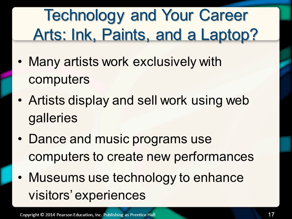 Technology and Your Career Education: Teaching and Learning