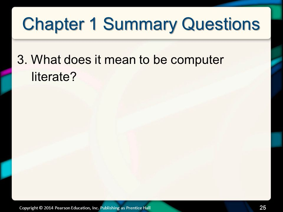 Chapter 1 Summary Questions