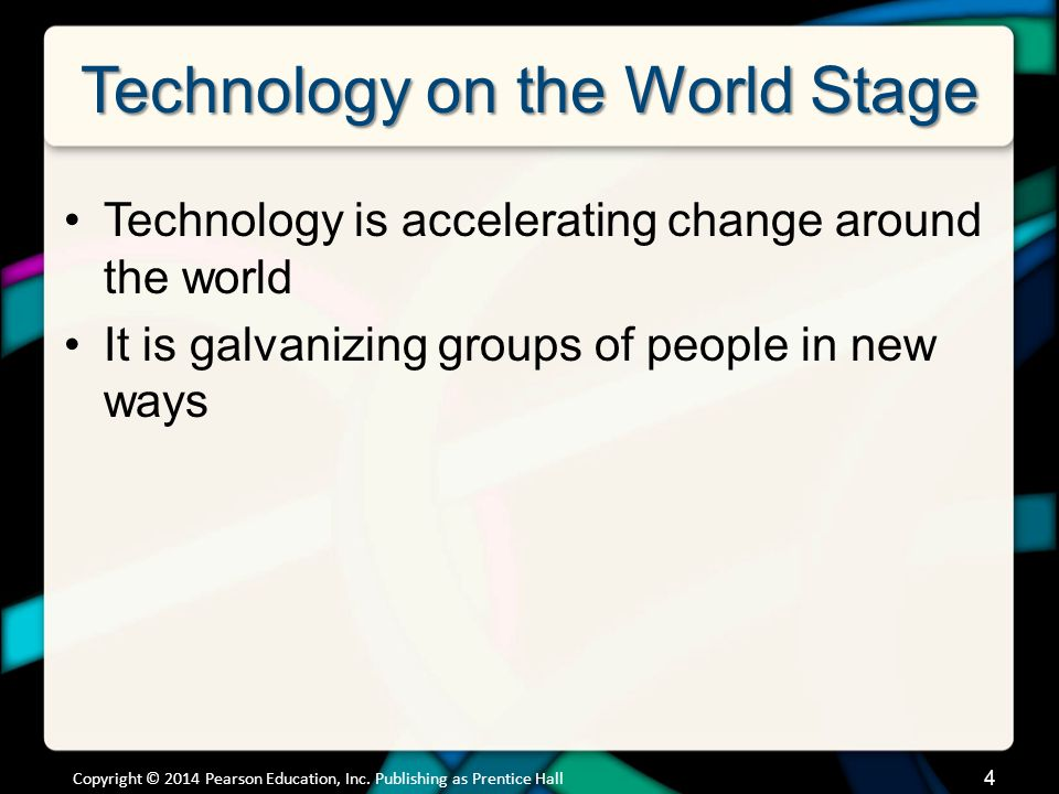 Technology on the World Stage Political Issues