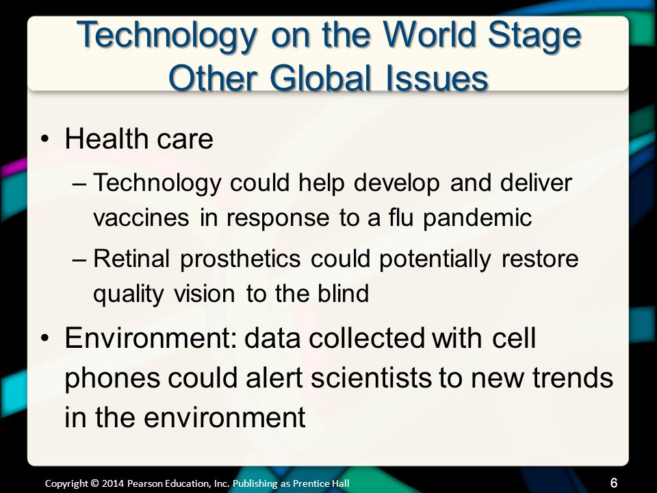 Technology on the World Stage The Digital Divide