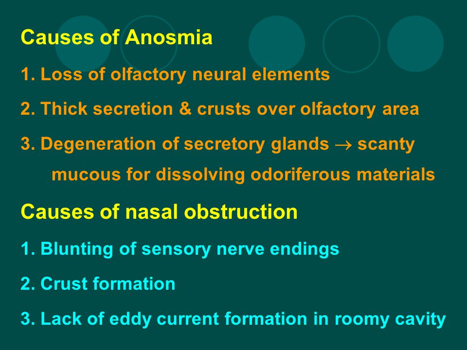 Causes of nasal obstruction