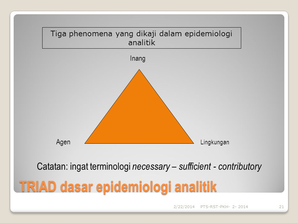TRIAD dasar epidemiologi analitik