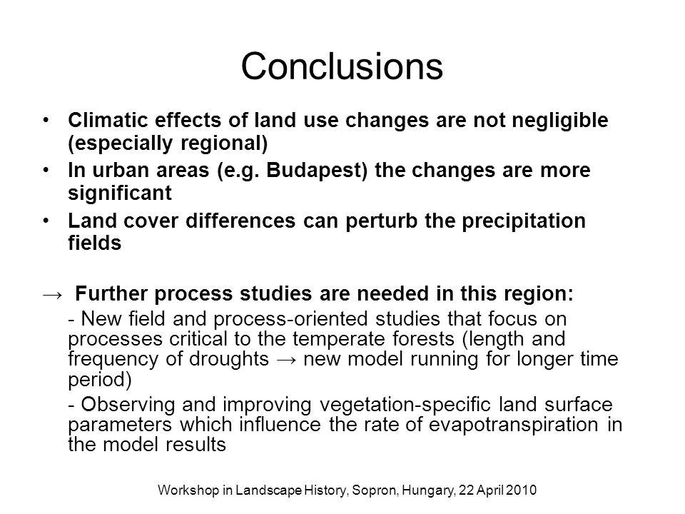 Workshop in Landscape History, Sopron, Hungary, 22 April 2010