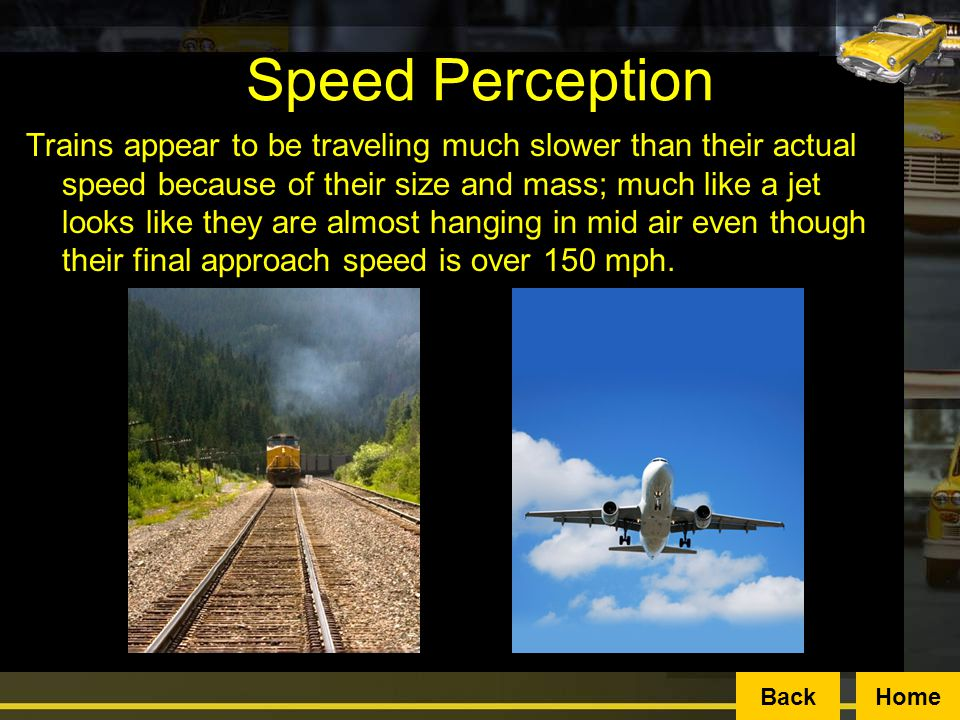 Speed Perception