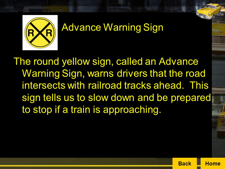 Advance Warning Sign