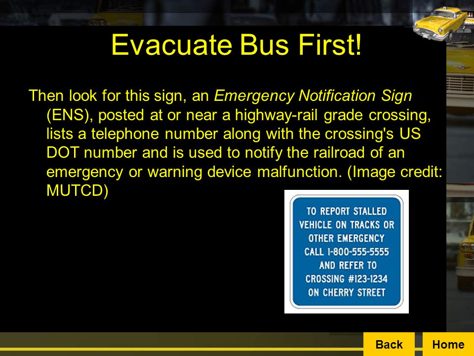 Evacuate Bus First!