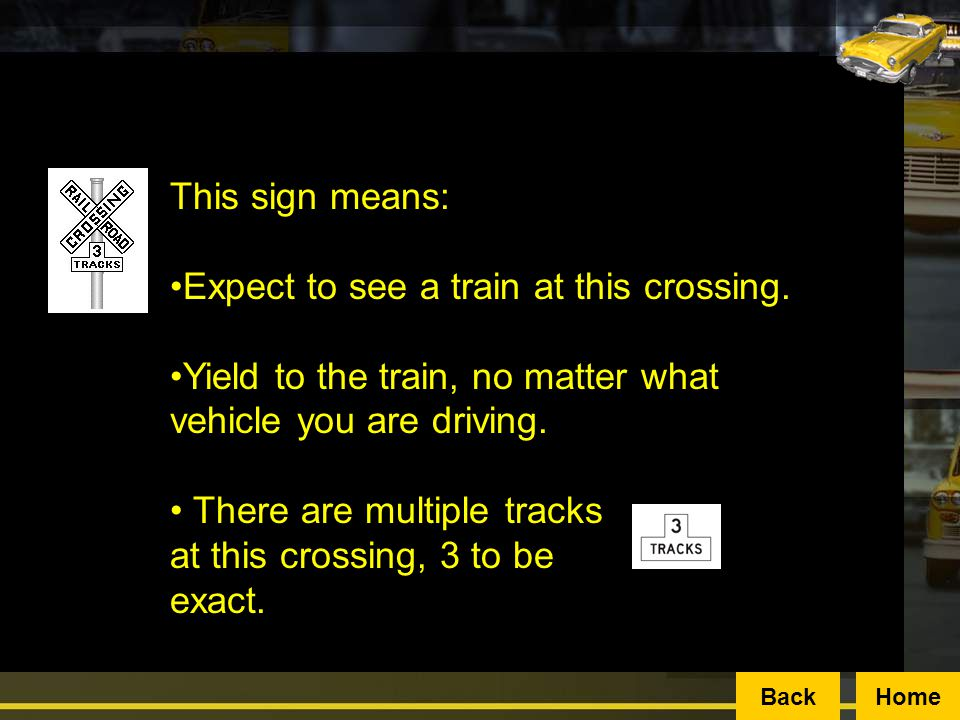 Expect to see a train at this crossing.
