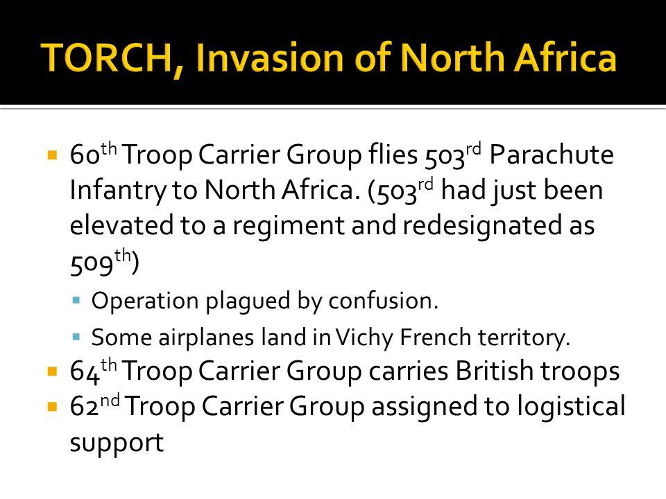 TORCH, Invasion of North Africa