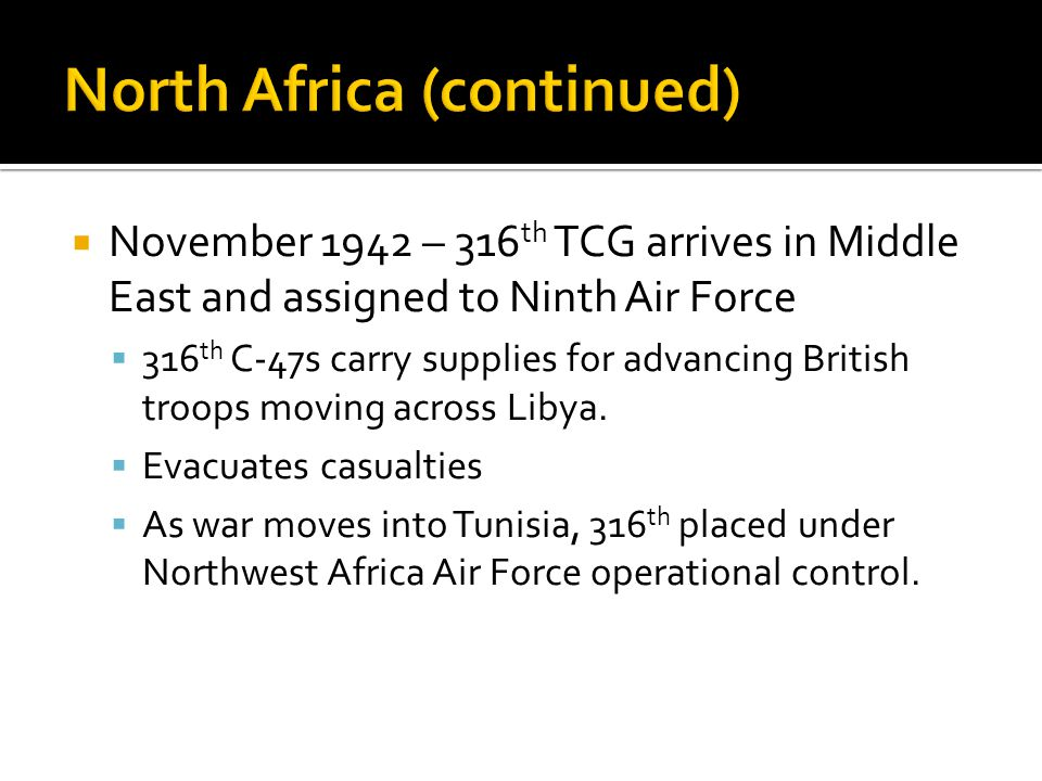 North Africa (continued)
