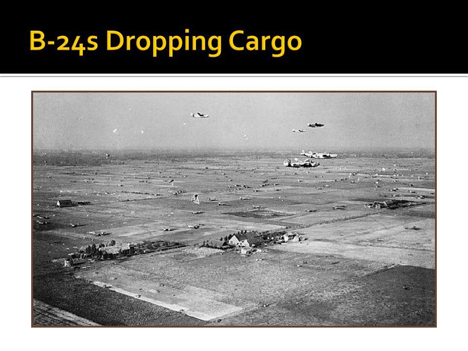 B-24s Dropping Cargo