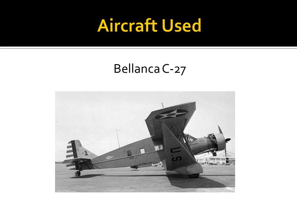 Aircraft Used Bellanca C-27