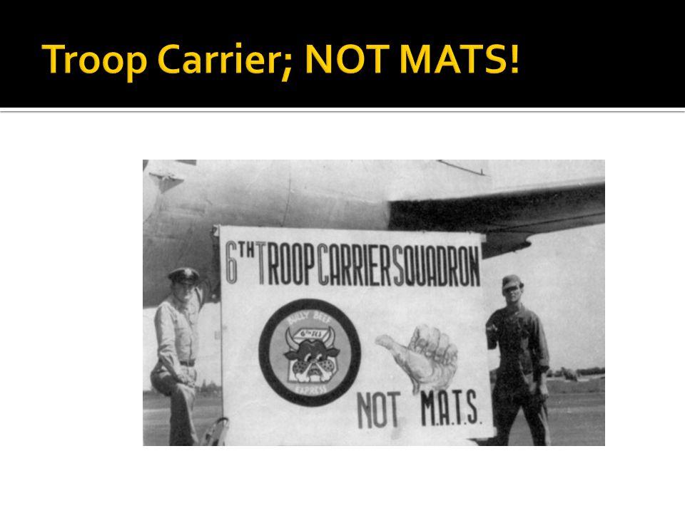 Troop Carrier; NOT MATS!