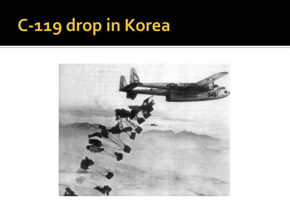 C-119 drop in Korea