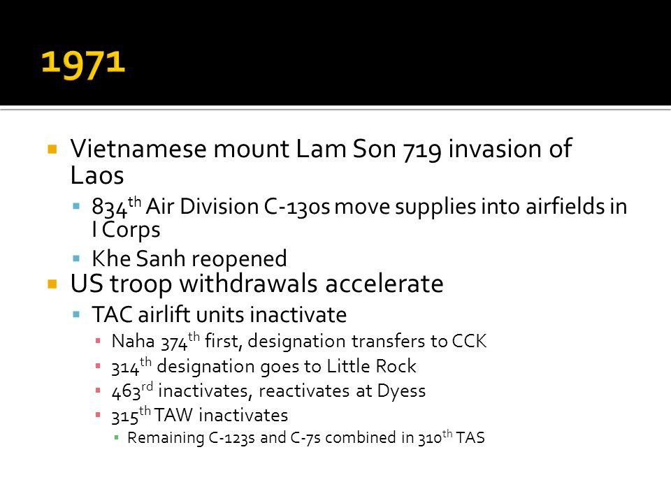 1971 Vietnamese mount Lam Son 719 invasion of Laos