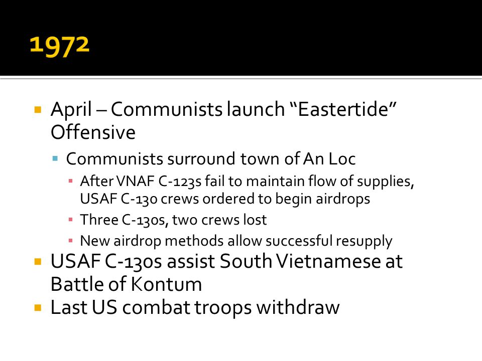 1972 April – Communists launch Eastertide Offensive